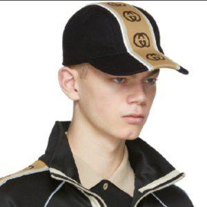GUCCI  Striped baseball cap hat